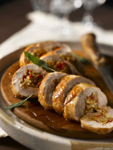 Apple and Wild Mushroom Stuffed Pork Tenderloin