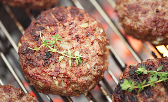 Broiled Lamb (or Beef or Bison) Burgers cooked sous vide with SousVide Supreme! Adapted from The 6 Week Cure for the Middle Aged Middle, Eades and Eades (Crown 2009) Serves 4 and multiplies easily!