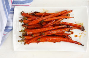 Maple Glazed Carrots with Toasted Pecans and Mint