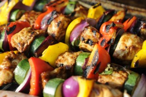 Grilled Chicken Veggie Kabobs