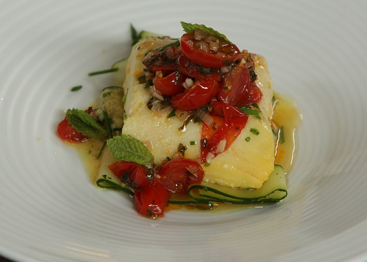 Saffron-scented Halibut