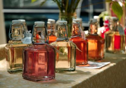 sous vide infused orange rosemary vinegar