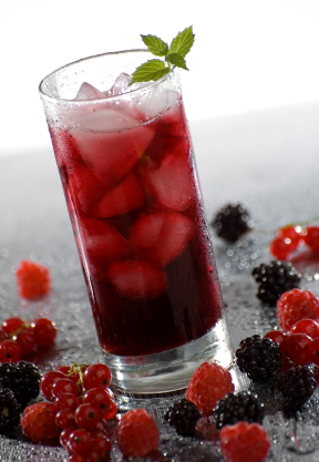raspberry infused iced tea