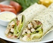 Easy Weeknight Chicken Caesar Wraps