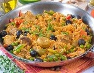 Chicken with Spanish Rice and Veggies