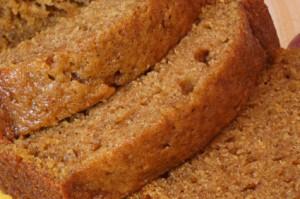pumpkin bread cooked sous vide