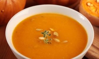 creamy pumpkin soup cooked sous vide