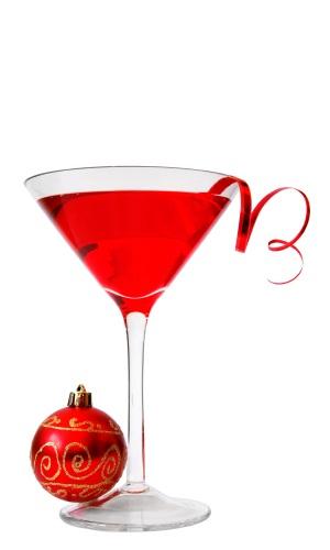 sous vide infused cranbertini cocktail
