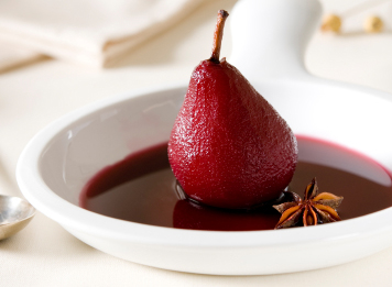 poached pears poached pears with puff pastry red wine poached pear