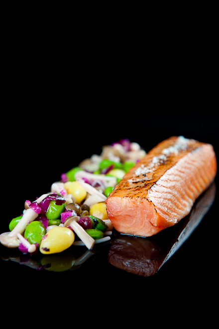Sous Vide maple soy salmon