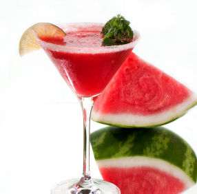 Watermelon Infused Vodka Martini
