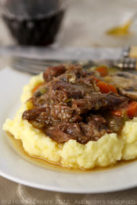 20-Hour SousVide Oxtail Stew on Creamy Mustard Mash