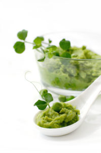 fresh pea puree cooked sous vide
