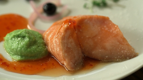 Sous Vide Scottish Salmon with Kafir Lime and Thai Chili
