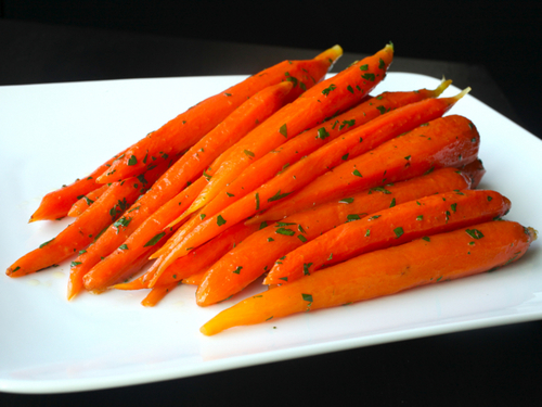 Sous Vide Minted Heirloom Carrots