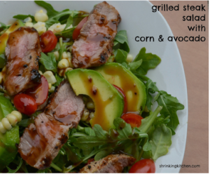 Grilled Steak Salad with Corn and Avocado #sousvide