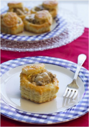 Chicken, Mushroom and Parmesan Cream Vol Au Vents