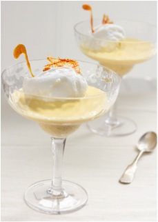 Floating Swans with Christmas-Spiced Crème Anglaise