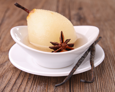 Sous Vide Poached Pear