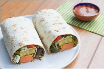 Sous Vide Vegetable Flatbread Wraps