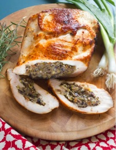 Leek and Mushroom Stuffed Turkey Breast