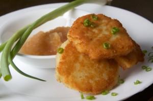 Mashed Potato Latkes #sousvide