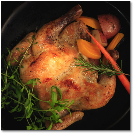 Fennel-Scented Cornish Game Hens made sous vide with SousVide Supreme