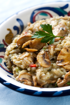 turkey and mushroom risotto #sousvide