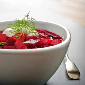 borscht cooked sous vide