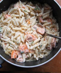 Sous Vide Creamy Salmon and Orange Pasta #sousvide