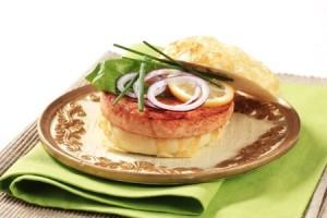 salmon burger sous vide