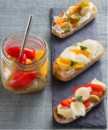 Bruschetta of Fresh Vegetable Confit