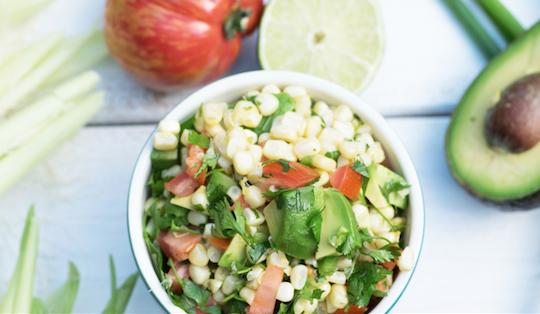 corn salsa sous vide