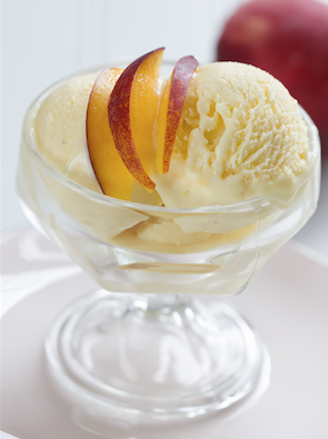 peach ice cream sous vide