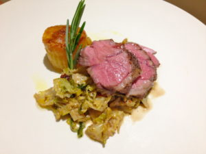 #sousvide Lamb Rump Steaks with Savoy Cabbage and Potato Fondants