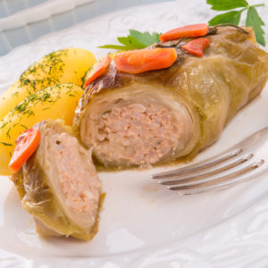 Lahanadolmathes Green Pork Stuffed Cabbage Rolls