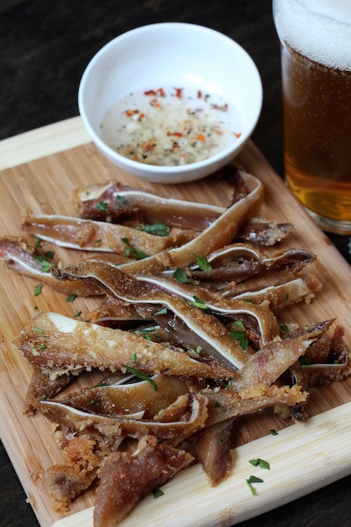 crispy fried pig ears sous vide