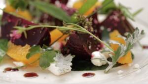 fresh beet salad sous vide