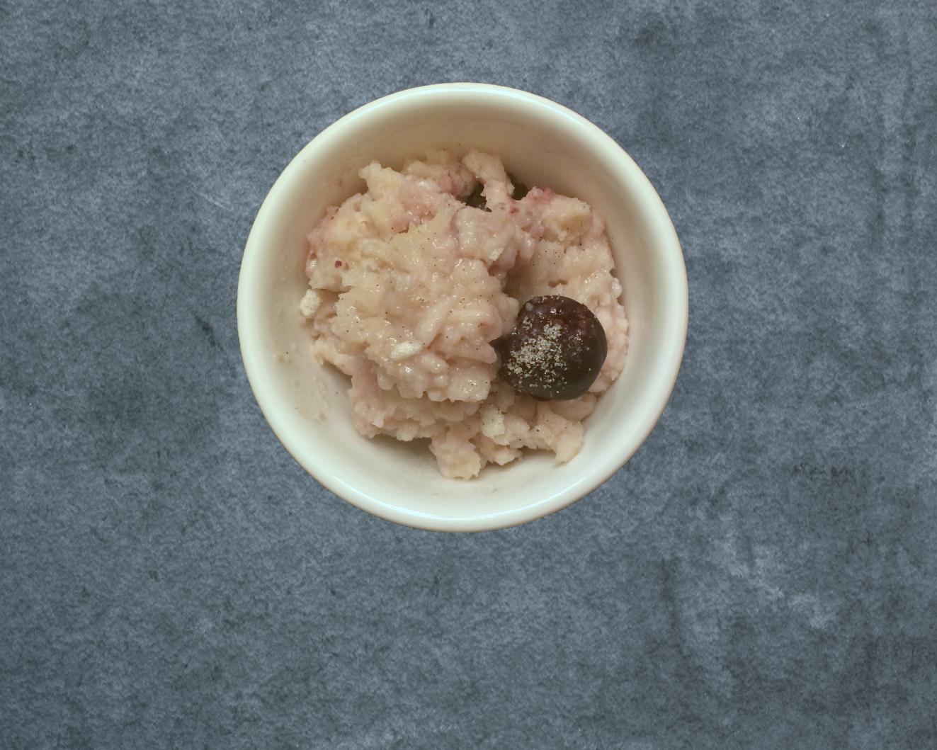 Vanilla Cardamom Rice Puddine with Cherries