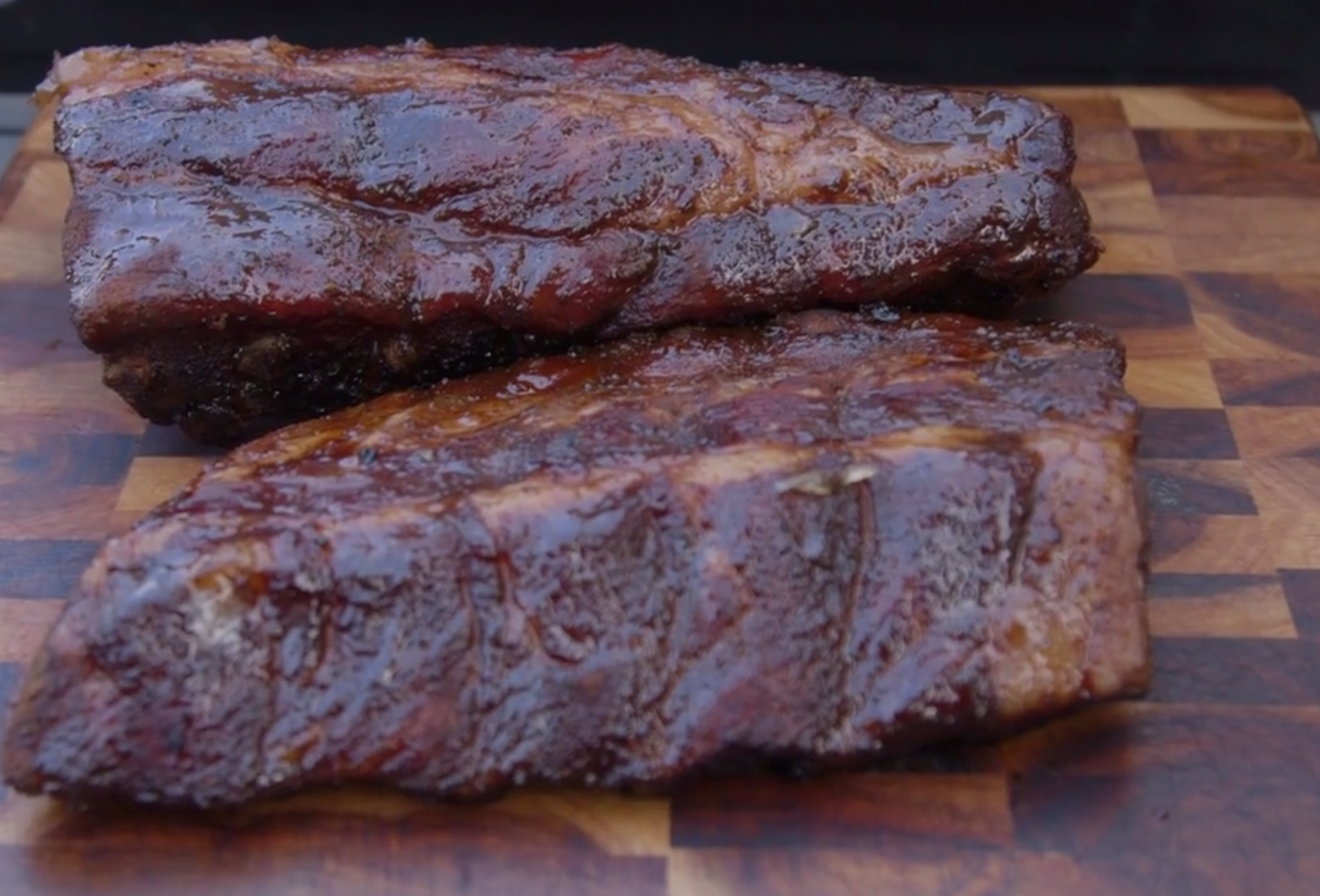 Baby Backs with Maple Whisky Sauce