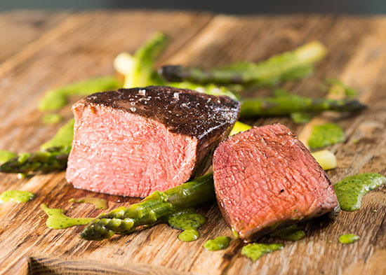 Natural Beef Tenderloin cooked sous vide